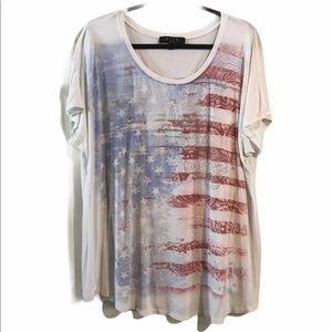 Tops - American Flag Tee Sz 2X